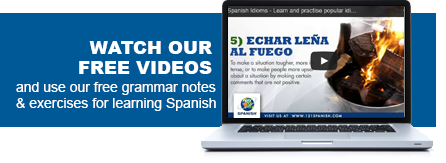 Free videos from 121 Spanish for learning Spanish language